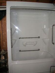 3 piece shower unit