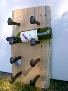 Wall Mounted Rustic Wine Rack Watch