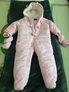 Baby girl snow suit