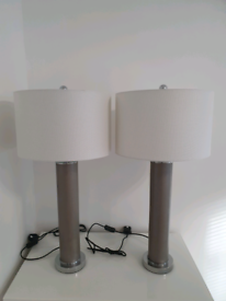 Pair of stylish modern bedside or table lamps. Immaculate condition.