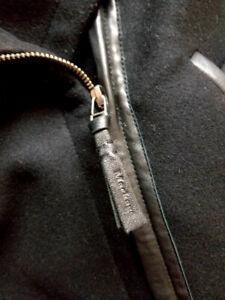 MACKAGE Women's Fae Wool Coat with Leather Sleeves (XXS)