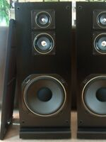 A pair of the MITSUBISHI tower speakers