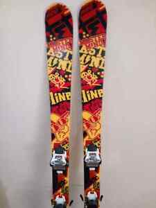 157 Line Master Mind Twin tip skis with bindings