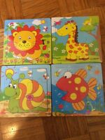 12 piece wooden puzzles