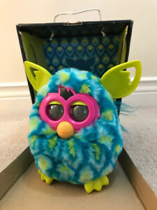 Furby Boom - Like New - Teal, green & yellow!