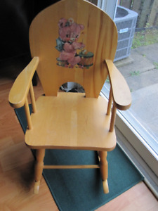 Solid Wood Kids Rocking Chair