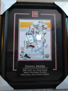 """HAND SIGNED-8""""X10"""" DANIEL BRIERE WITH COA"""