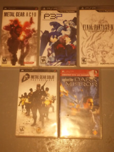 5 PSP games for sale