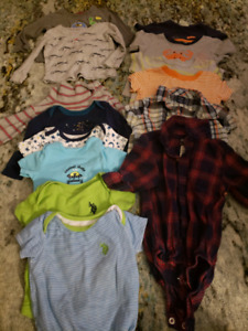 Boys clothes ranging from 6-18 months
