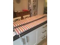 B & Q striped patio furniture cushions