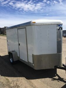 2005 Mirage 6 X 10/12 V-Nose Cargo trailer.