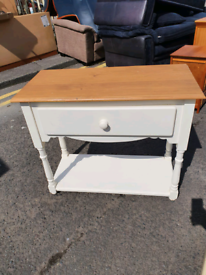 40. White and pine Hall table
