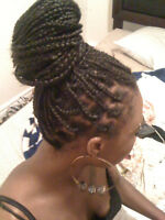 Braids, Cornrows, Singles, Twists, Weave-in Hair Extensions