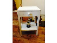Delightful Bedside Table delicately shabby chicced