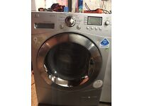 LG silver washing machine 9kg direct drive