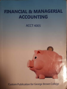 Financial and Managerial Accounting book ACCT 4005