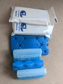 6 various ice blocks / freeze blocks