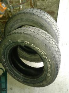 2 Goodyear Wrangler truck tires