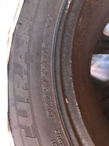 All season tyre size P205/55R16 qty 6 on company rim