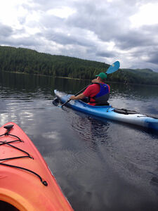 Two Necky Rip Kayaks with paddles, pfd's and safety kits