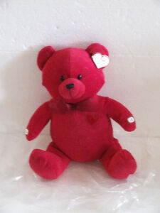 Avon Plush Stuffed Recordable Talking Red Heart Teddy Bear NWT