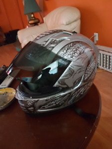 Icon full face motorcycle helmet size is medium $100 firm one ma