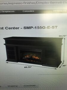 Electric fire place entertainment centre  Kitchener / Waterloo Kitchener Area image 1