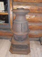 Beautiful antique wood burning pot belly stove