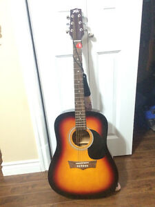 acoustic guitar w/ case for sale
