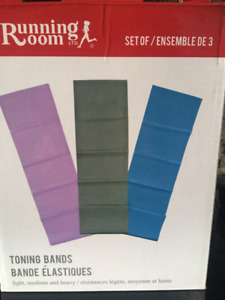"Running Room ""Toning Bands"" -Set of 3 - in Box"