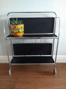 Mid Century Modern Folding Bar Cart + Free Delivery