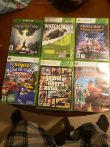 Xbox 360 games and 1 xbox one game
