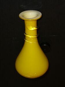 """Mignon vase en verre souflé jaune style Murano 6,5""""x3"""" fait main West Island Greater Montréal image 7"""
