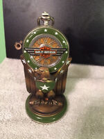 Haley Davidson pocket watch with eagle stand
