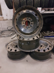 4-17 INCH 6 BOLT FORD TRUCK RIMS