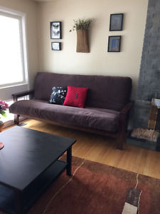 Queen Size Futon, solid wood, excellent condition