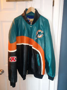 Miami Dolphins Team Leather Jacket