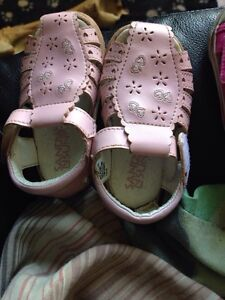 2 pairs of little girls shoes