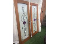2 lovely Rennie Mackintosh hardwood doors