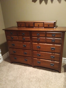 mission style solid wood bedroom suite