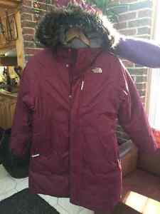 NORTH FACE- girl's down parka- 14-16 L