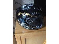 Scorpion crash helmet