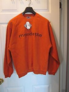 ** NEW Mondetta Sport Orange Sweater - Small Soft 100% Cotton
