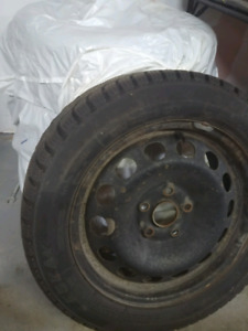 """4 16"""" snow tires and rims $400"""