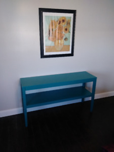 Sofa Table in Jade Blue Color