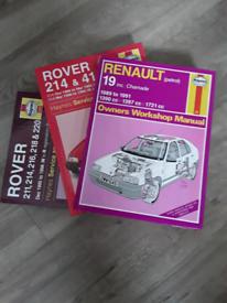 Haynes Car Manuals Renault and Rover
