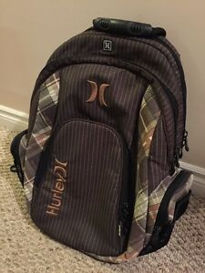 Brown coloured Hurley back pack