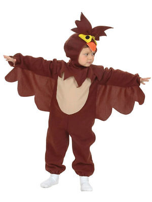 BOYS GIRLS TODDLER WISE OWL ALL IN ONE FANCY DRESS COSTUME FITS 2 - 4 YEARS - Toddler Boy Owl Costume