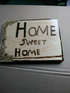 Homemade wood burned pictures