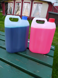 Caravan chemical toilet. 10 litres in total 5L of top and 5L of bottom